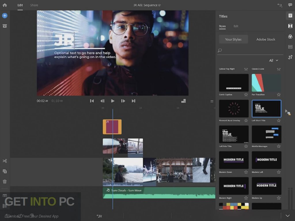 Adobe Premiere Rush CC 2019 Direct Link Download-GetintoPC.com