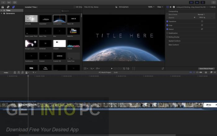Apple Final Cut Pro X 10.4.3 for Mac Latest Version Download-GetintoPC.com