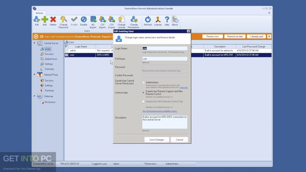 DameWare Remote Support Latest Version Download-GetintoPC.com