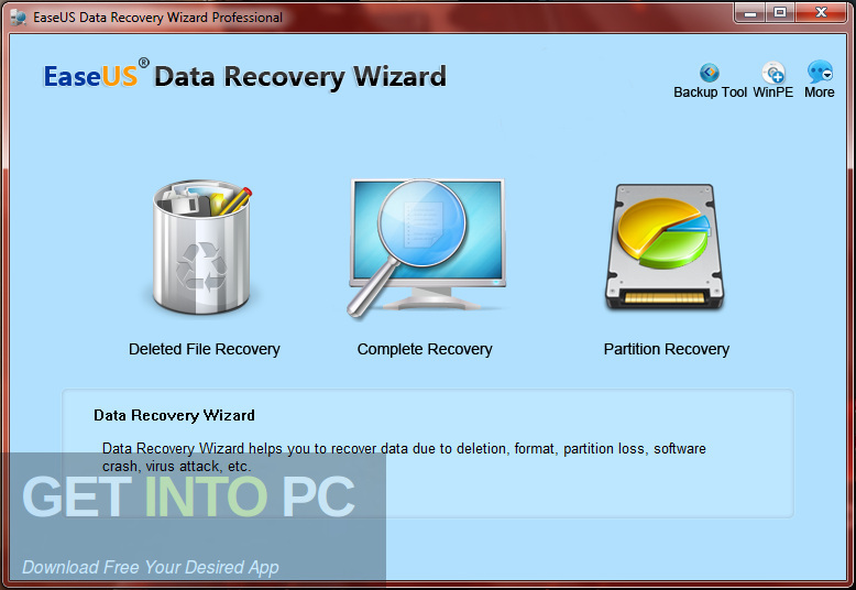 EaseUS Data Recovery Wizard WinPE Direct Link Download-GetintoPC.com