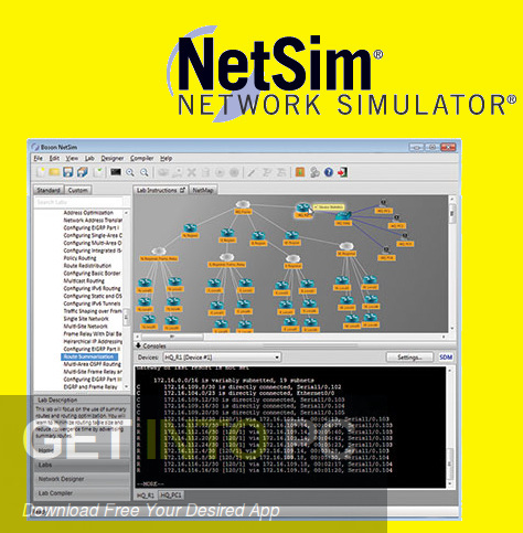 NetSim Network Simulator Free Download-GetintoPC.com