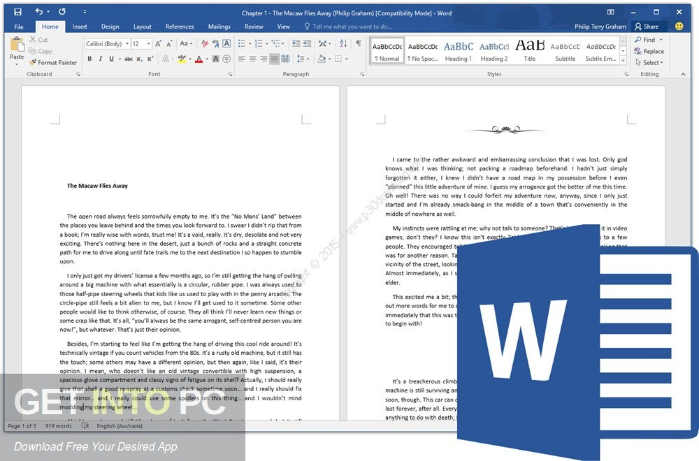 Office 2016 Professional Plus November 2018 Offline Installer Download-GetintoPC.com
