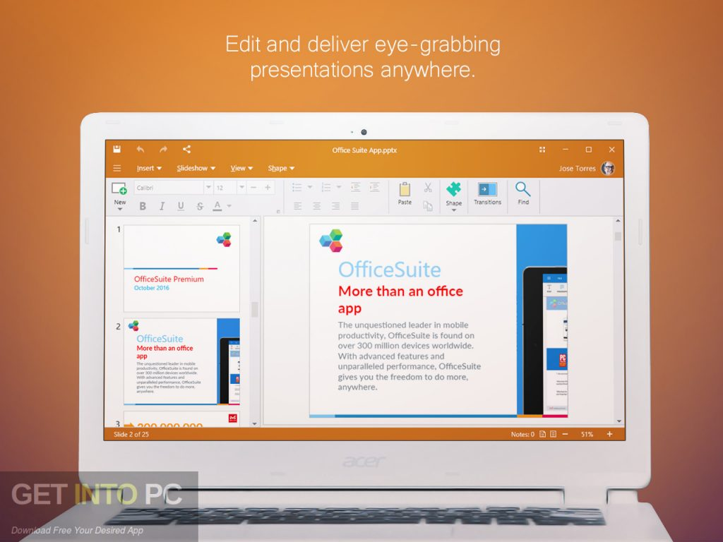 OfficeSuite Premium Edition Direct Link Download-GetintoPC.com
