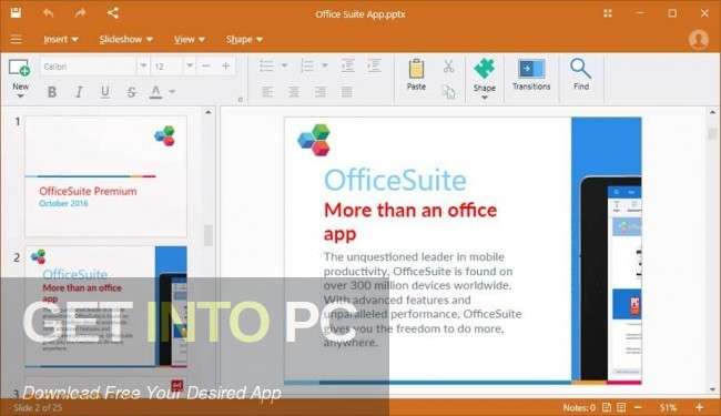 OfficeSuite Premium Edition Latest Version Download-GetintoPC.com