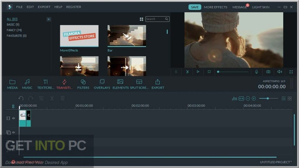 Wondershare Filmora 8.7.0 + Effects Mega Pack Latest Version Download-GetintoPC.com