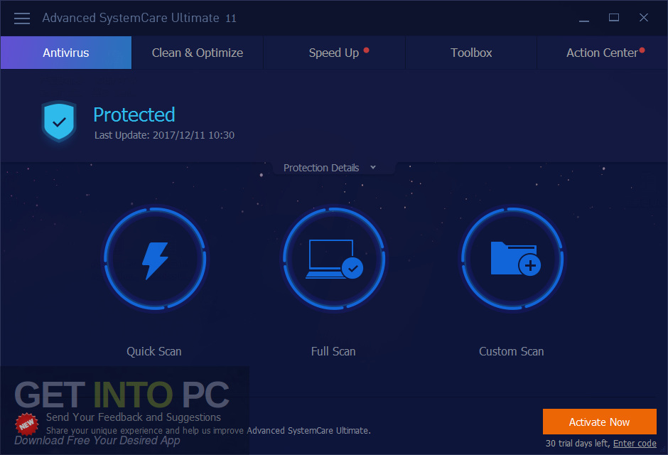 Advanced SystemCare Ultimate 11 Offline Installer Download-GetintoPC.com