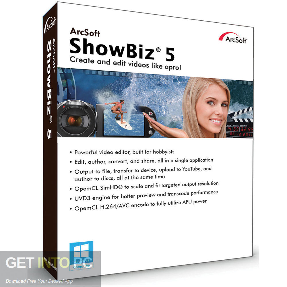 ArcSoft ShowBiz Free Download-GetintoPC.com