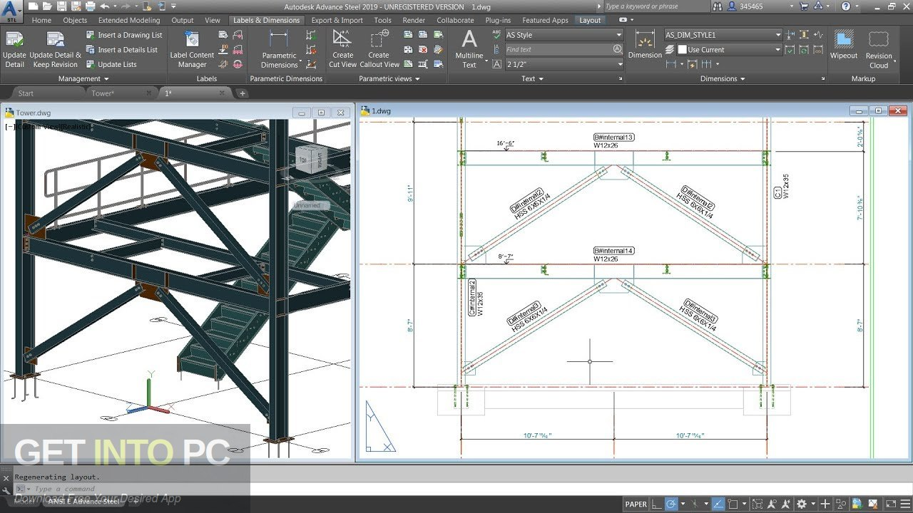 Autodesk Advance Steel 2019 Latest Version Download-GetintoPC.com