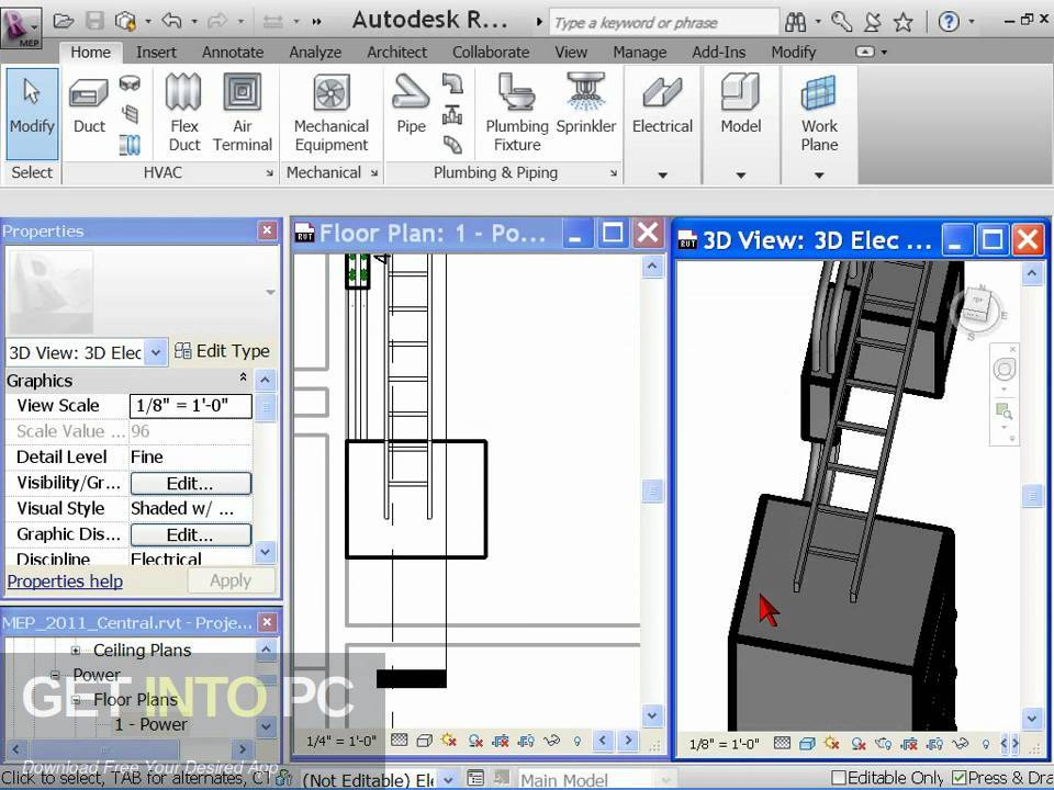 Autodesk Revit MEP 2011 Latest Version Download-GetintoPC.com