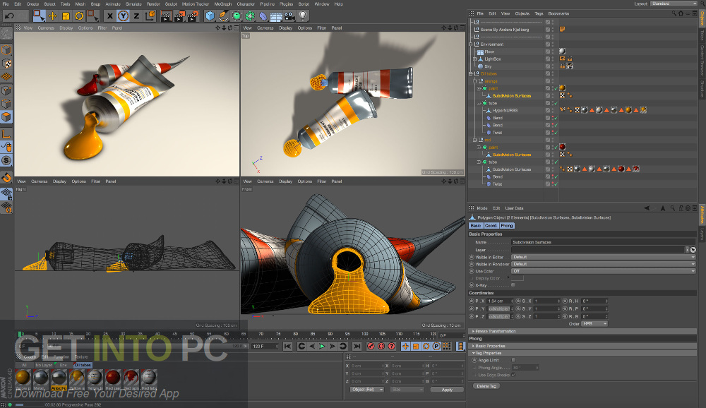 CINEMA 4D Studio R18 for Mac Offline Installer Download-GetintoPC.com