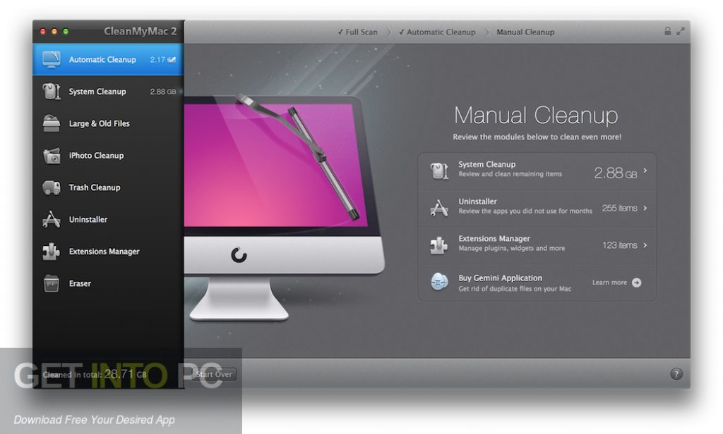 CleanMyMac for Mac Latest Version Download-GetintoPC.com