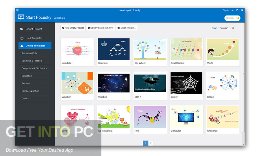 Focusky Presentation Maker Pro for Mac Direct Link Download-GetintoPC.com