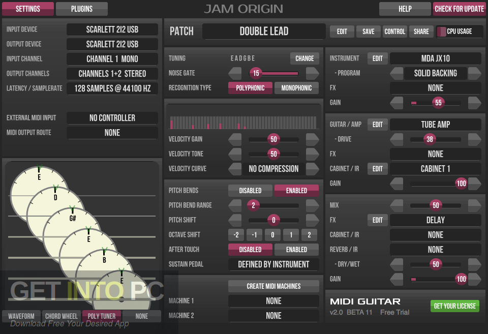 Jam Origin MIDI Guitar Offline Installer Download-GetintoPC.com
