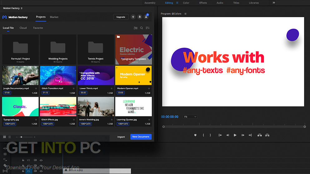 Motion Factory For After Effects Premiere Latest Version Download-GetintoPC.com