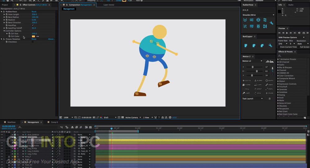 RubberHose v1.0 for Adobe After Effects Latest Version Download-GetintoPC.com