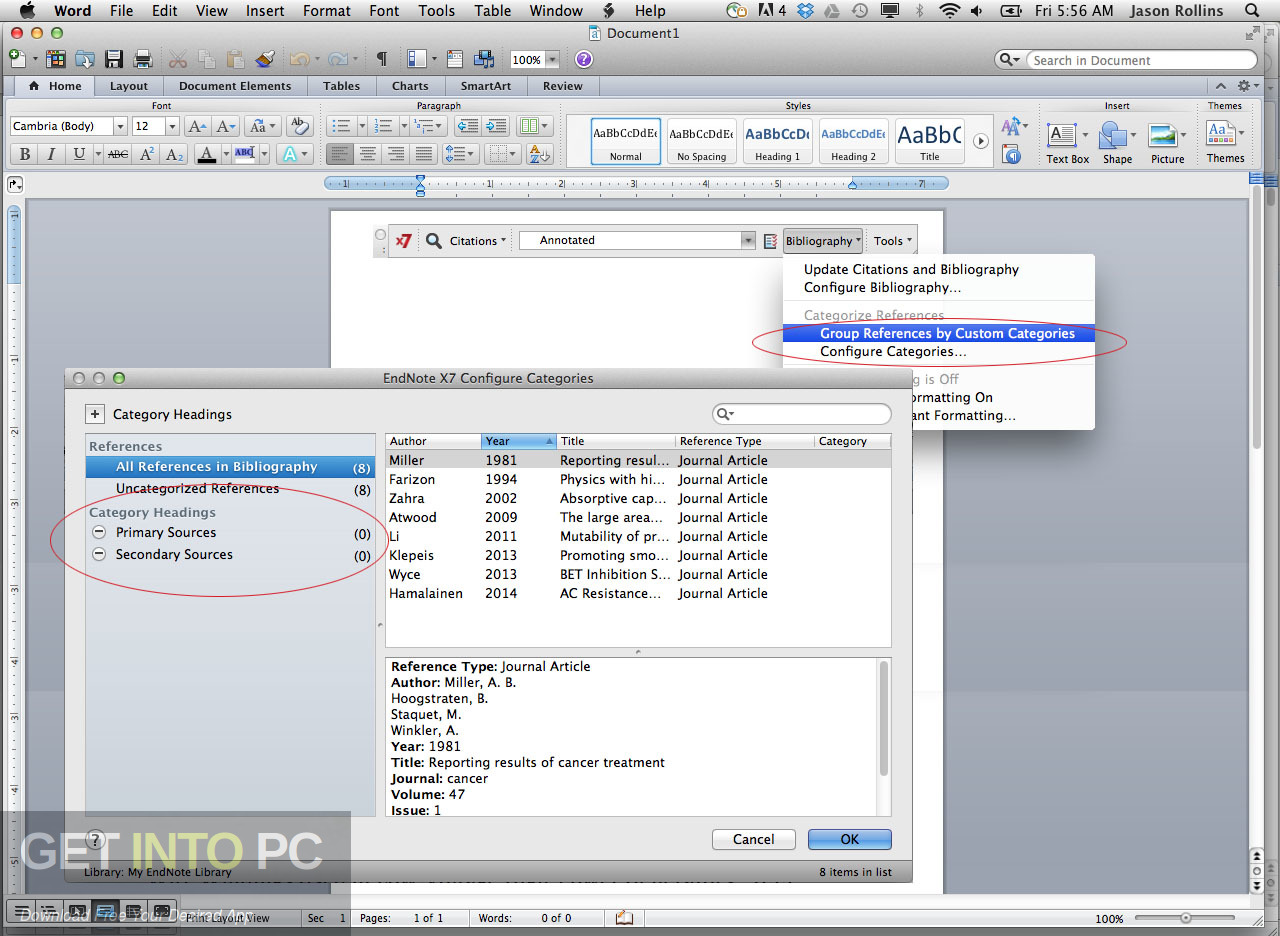 Thomson Reuters EndNote for Mac Latest Version Download-GetintoPC.com