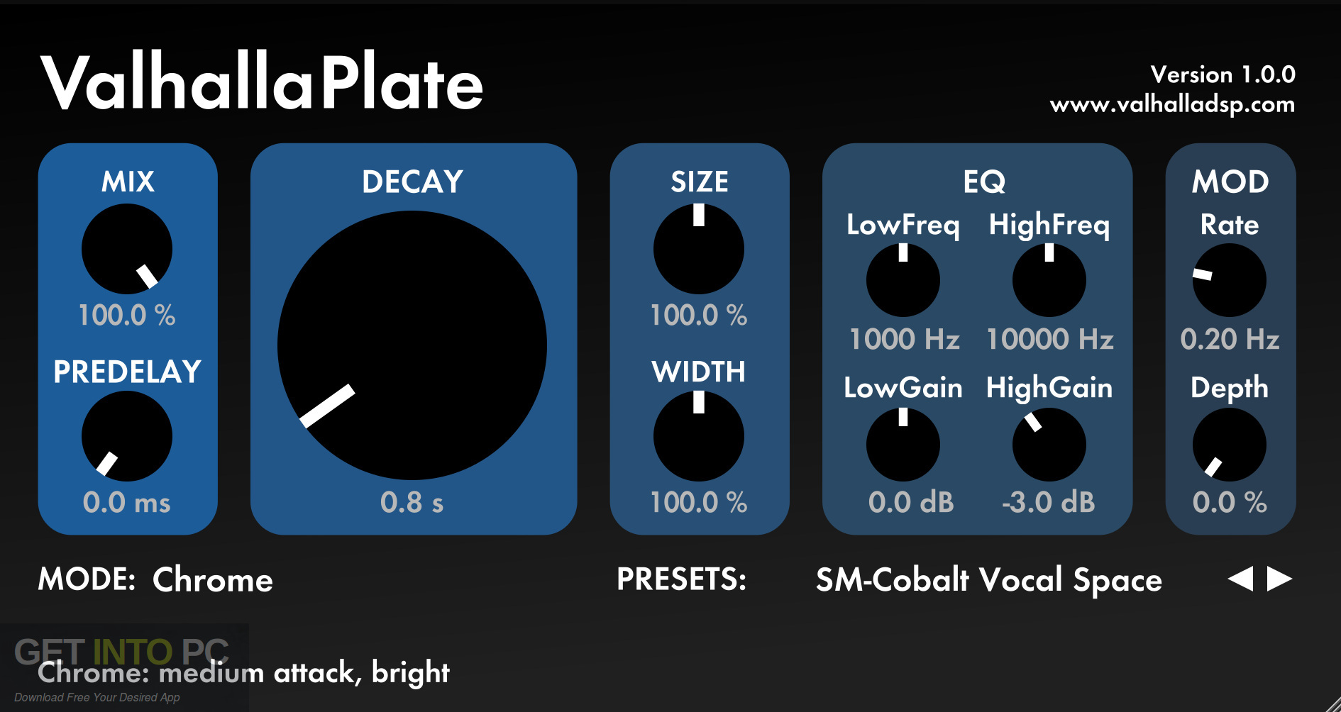 Valhalla Plate Room Vintage Verb VST Direct Link Download-GetintoPC.com