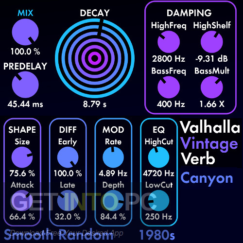 Valhalla Plate Room Vintage Verb VST Latest Version Download-GetintoPC.com