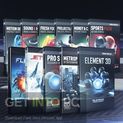 Video Copilot - Element 3D (Ultra 3D Bundle) Free Download-GetintoPC.com