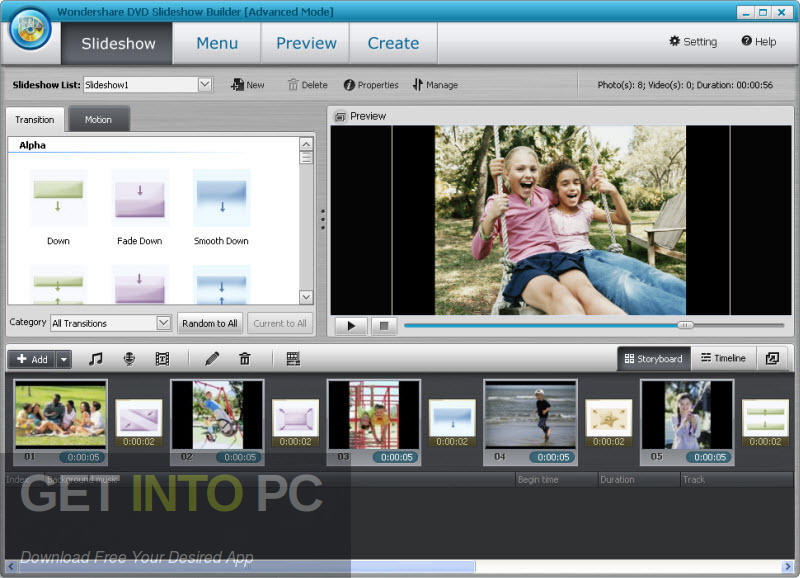 Wondershare DVD Slideshow Builder Deluxe Latest Version Download-GetintoPC.com