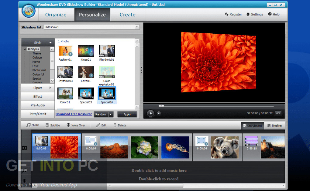 Wondershare DVD Slideshow Builder Deluxe Offline Installer Download-GetintoPC.com