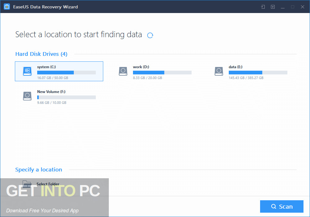 EaseUS Data Recovery Wizard Technician 2019 Offline Installer Download-GetintoPC.com