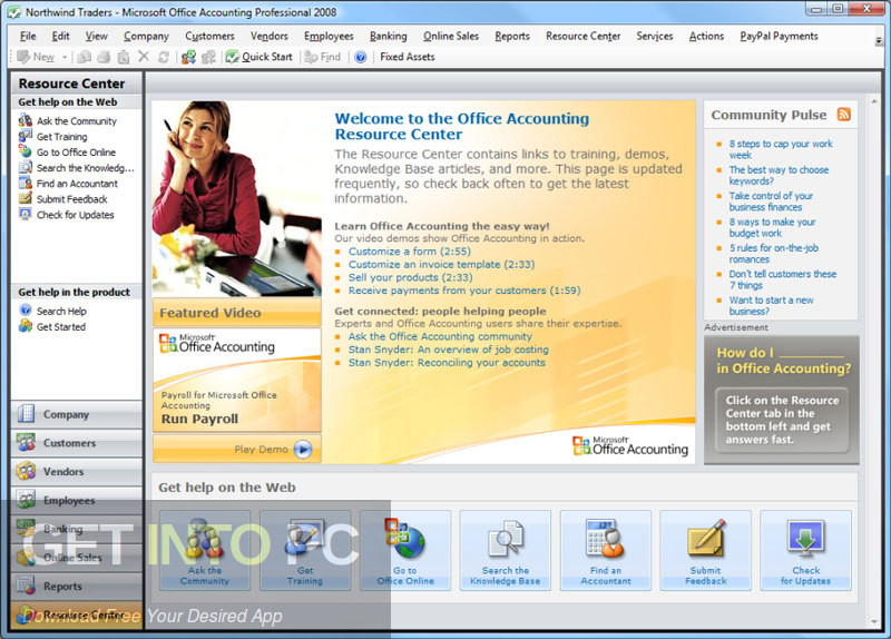 Microsoft Office Accounting Professional 2009 UK Edition Latest Version Download-GetintoPC.com