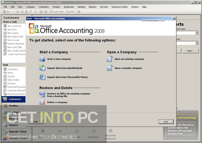 Microsoft Office Accounting Professional 2009 UK Edition Offline Installer Download-GetintoPC.com