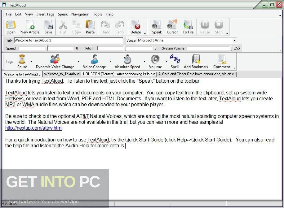 NextUp - Text Aloud + AT&T Natural + NeoSpeech Voices Offline Installer Download-GetintoPC.com