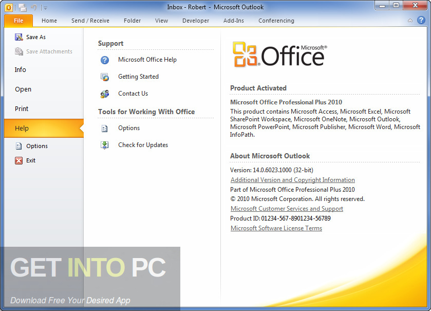 Office 2010 Professional Plus Jan 2019 Edition Offline Installer Download-GetintoPC.com