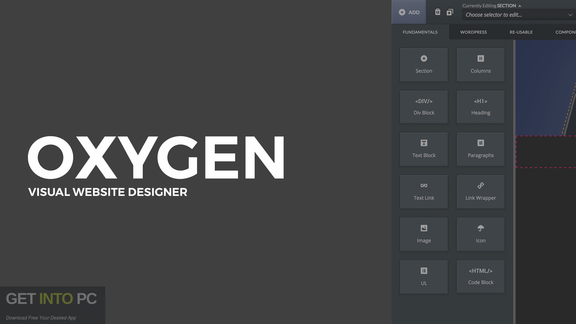 Oxygen WordPress Visual Site Builder Free Download-GetintoPC.com