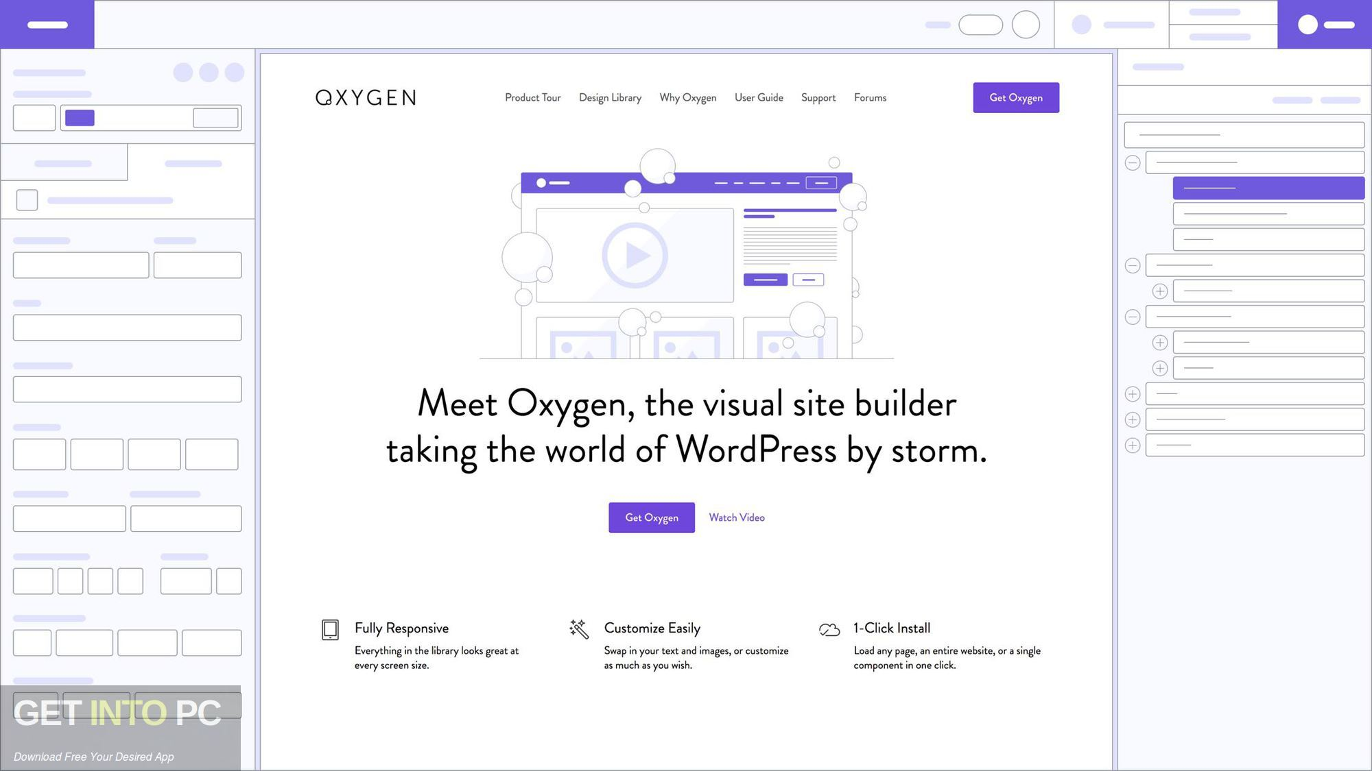 Oxygen WordPress Visual Site Builder Offline Installer Download-GetintoPC.com