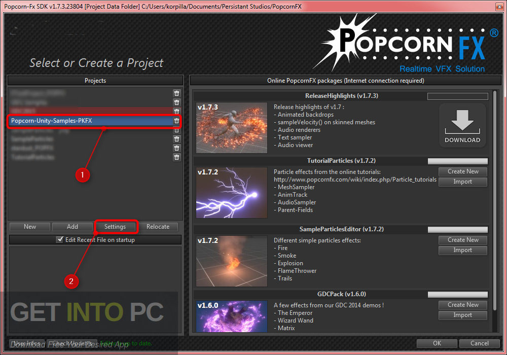 PopcornFX Particle Effects Plugin Unity Package Free Download