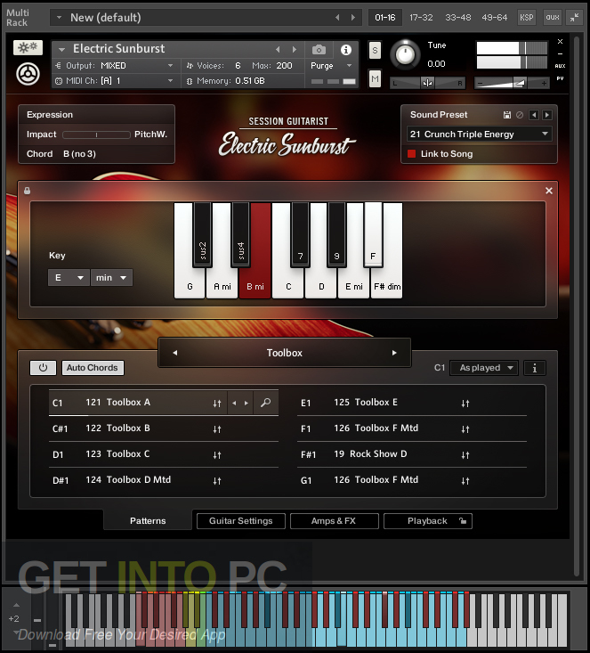 Session Guitarist Electric Sunburst KONTAKT VST Library Direct Link Download-GetintoPC.com