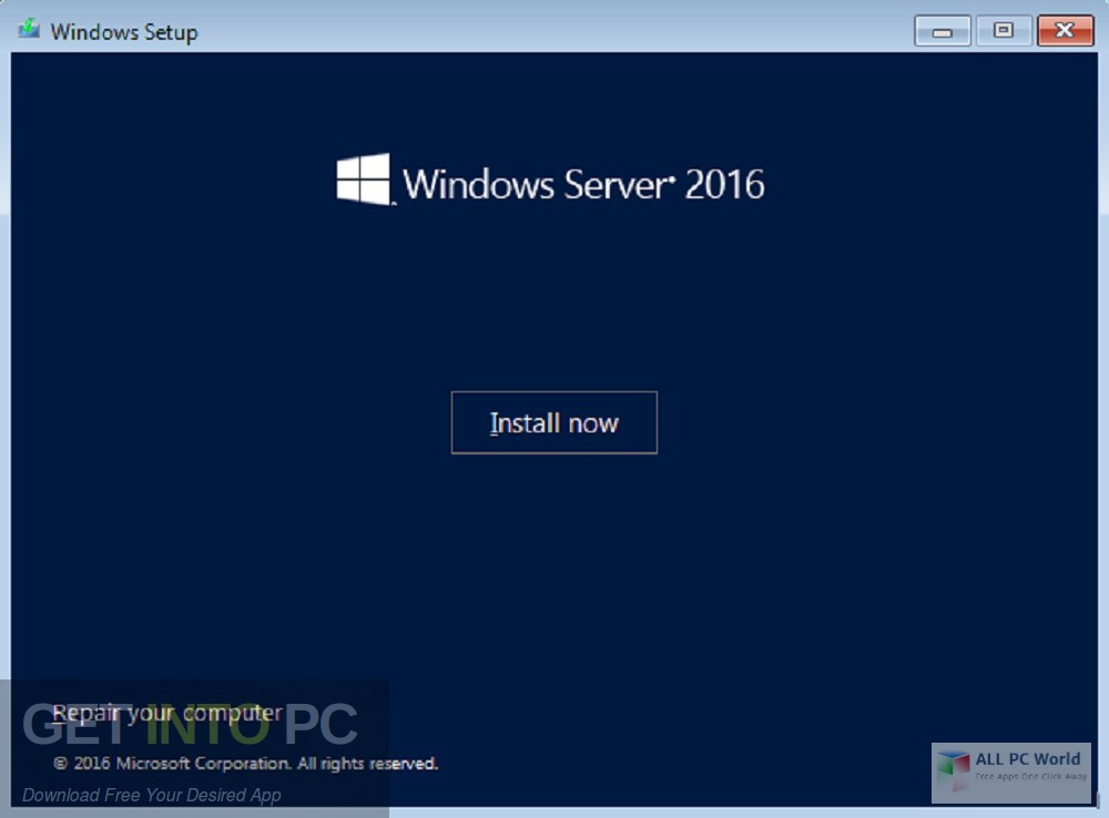 Windows Server 2016 x64 VL with Update Dec 2018 Direct Link Download-GetintoPC.com