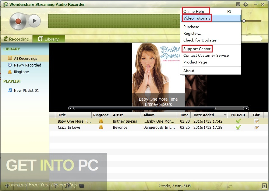 Wondershare Streaming Audio Recorder Direct Link Download-GetintoPC.com