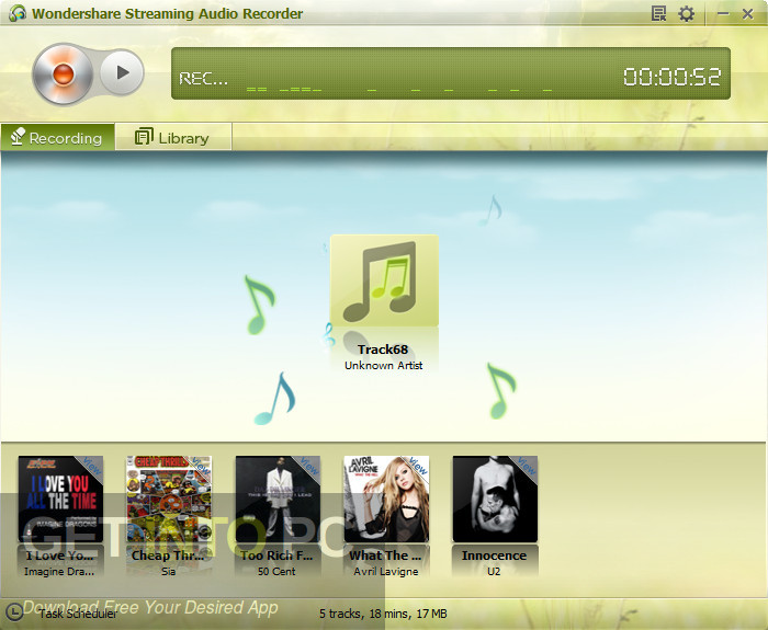 Wondershare Streaming Audio Recorder Latest Version Download-GetintoPC.com