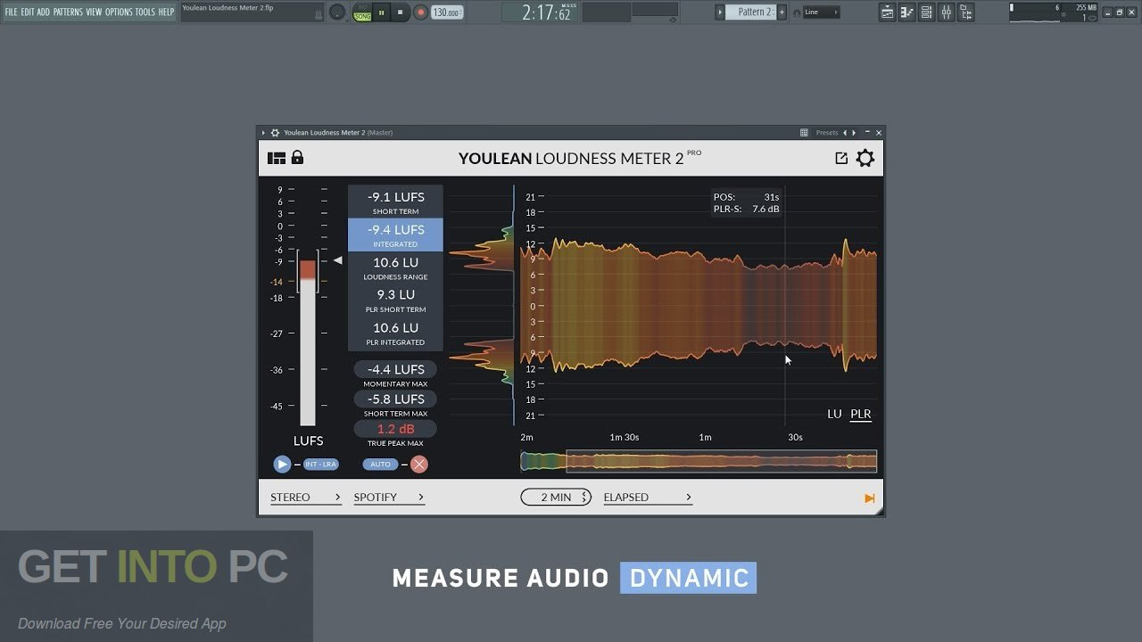 Youlean Loudness Meter Pro VST Plugin Direct Link Download-GetintoPC.com