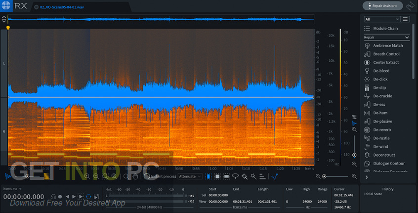 iZotope RX 7 Audio Editor Advanced VST Latest Version Download-GetintoPC.com