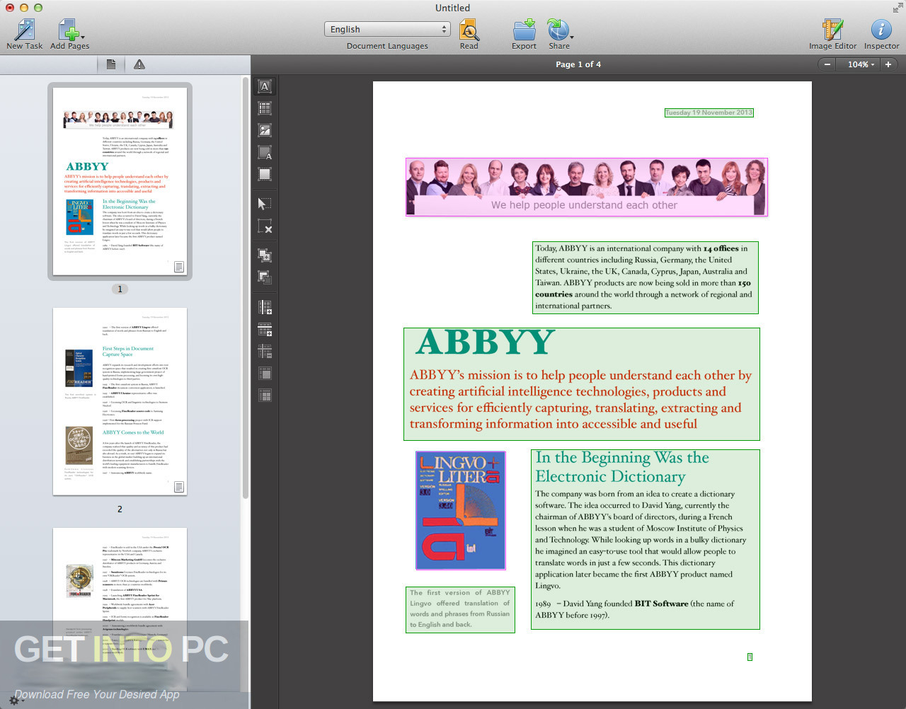 ABBYY FineReader 12.1.11 for Mac Offline Installer Download-GetintoPC.com