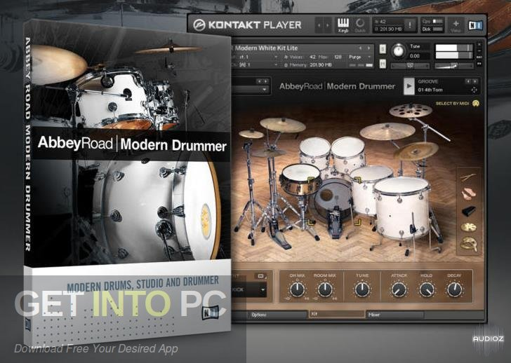 Abbey Road Modern Drummer Kontakt Library Free Download-GetintoPC.com