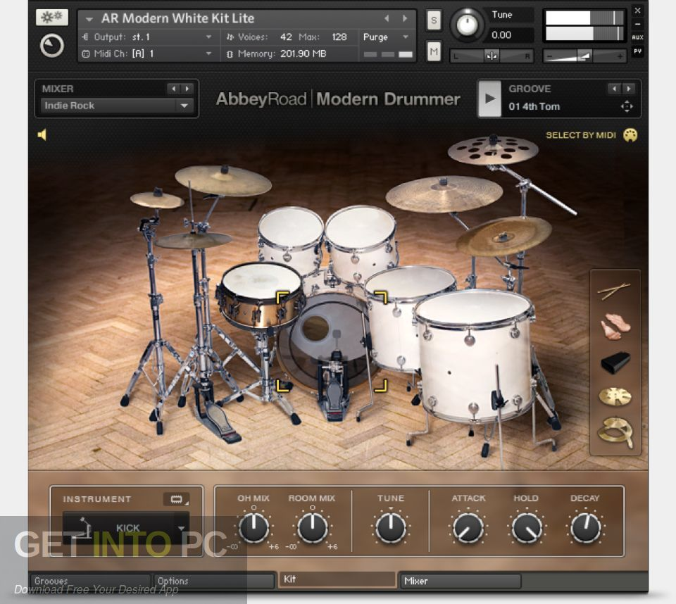 Abbey Road Modern Drummer Kontakt Library Latest Version Download-GetintoPC.com