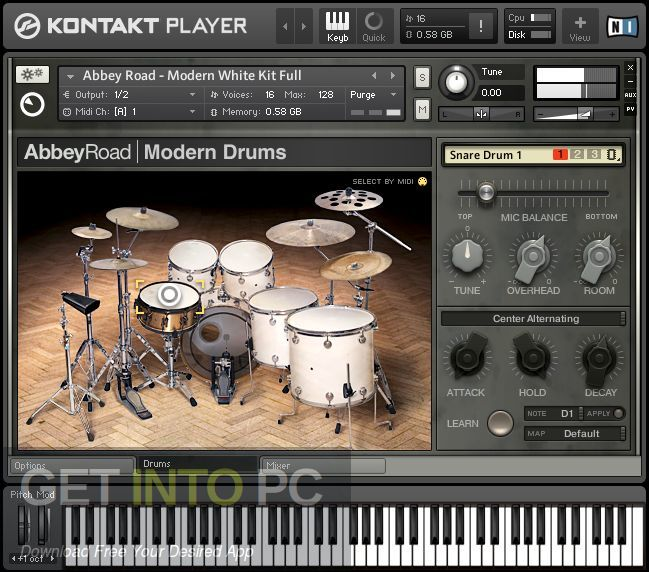 Abbey Road Modern Drummer Kontakt Library Offline Installer Download-GetintoPC.com