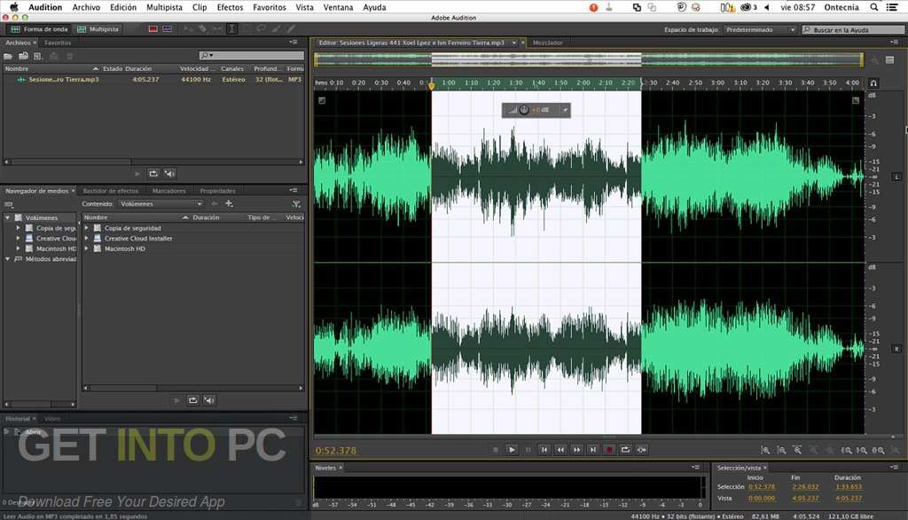 Adobe Audition CC 2019 for Mac Offline Installer Download-GetintoPC.com