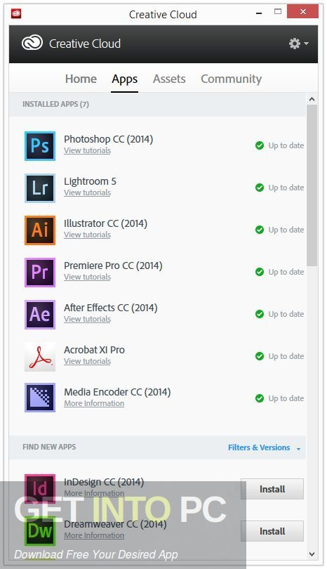 Adobe Creative Cloud Desktop Application Offline Installer Download-GetintoPC.com