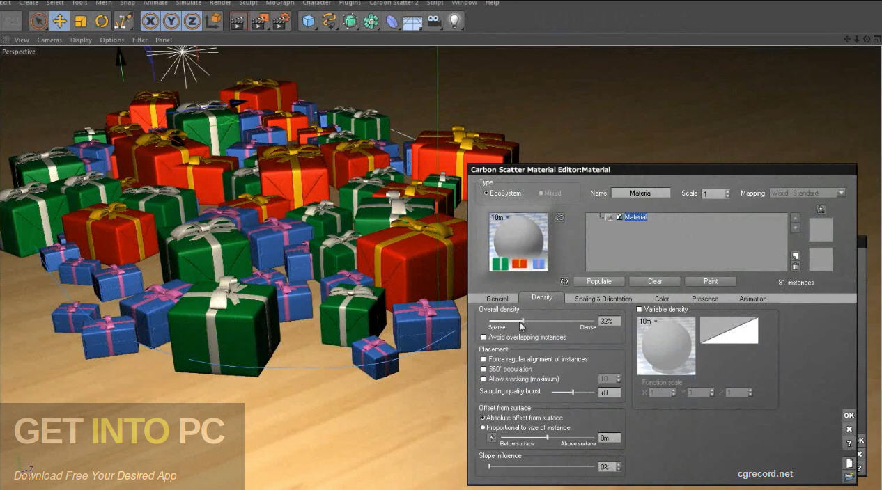 Carbon Scatter Plugin for 3ds Max, Cinema4D, Maya Direct Link Download-GetintoPC.com