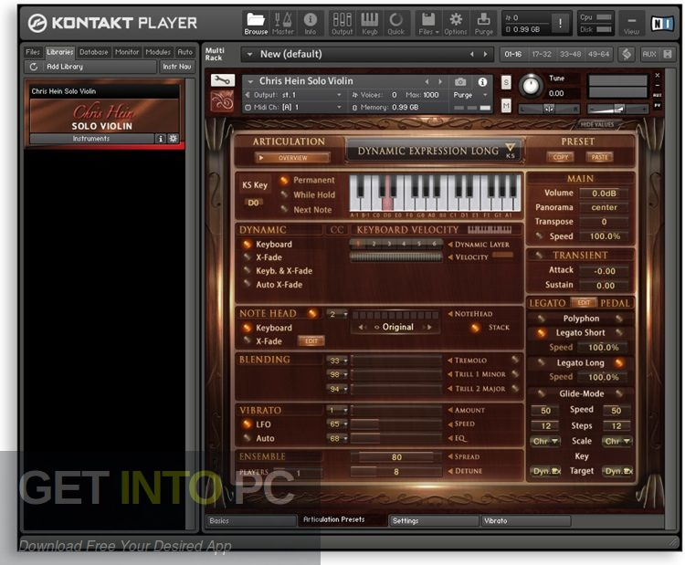 Chris Hein Solo Violin KONTAKT Library Latest Version Download-GetintoPC.com