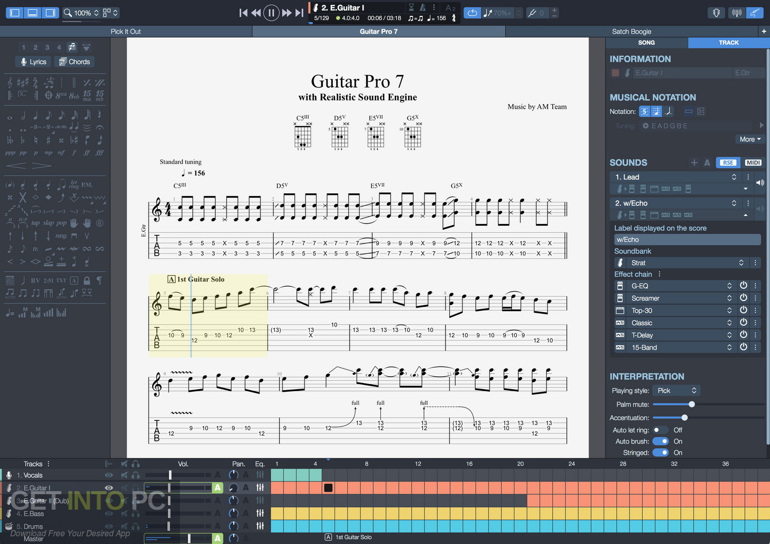 Guitar Pro 7.5 + Soundbank Latest Version Download-GetintoPC.com