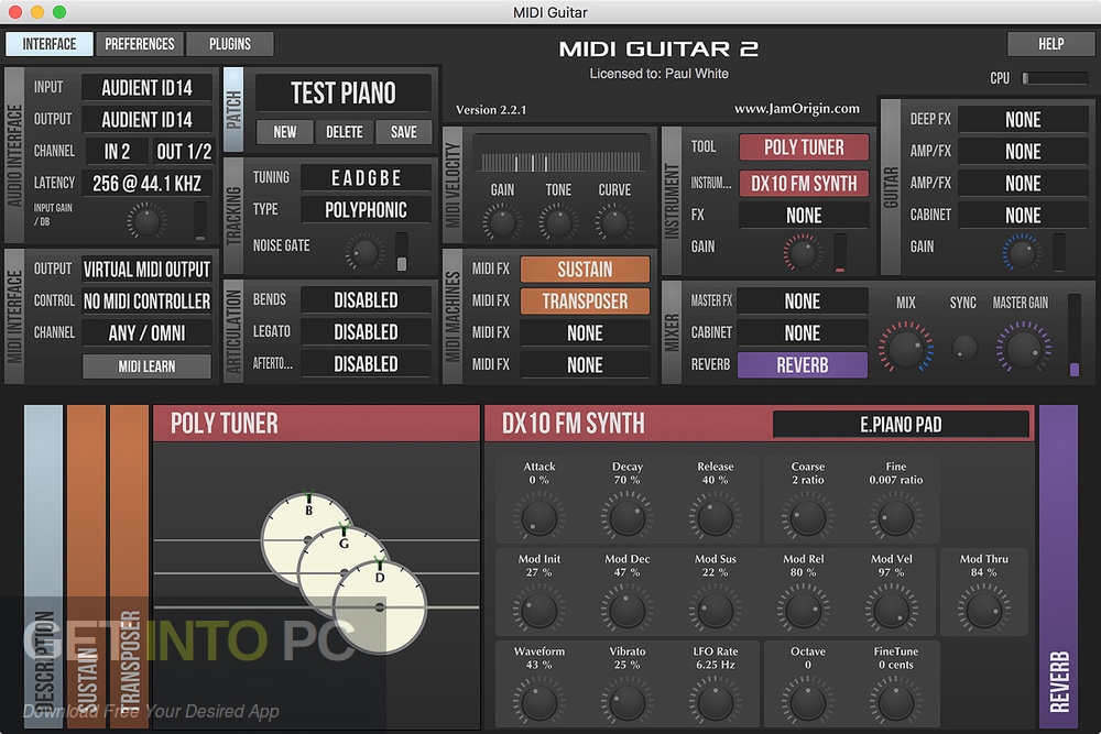 Jam Origin MIDI Guitar 2 VST Latest Version Download-GetintoPC.com