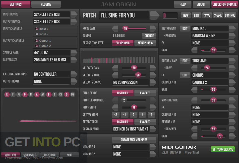 Jam Origin MIDI Guitar 2 VST Offline Installer Download-GetintoPC.com